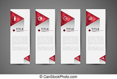 option infographic banners