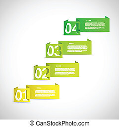 Option selecting paper templates eps10 vector illustration