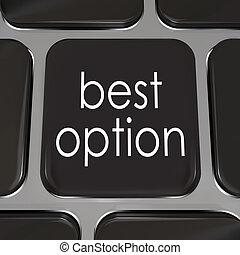 option, sommet, choix, mieux, clef informatique, clavier,...