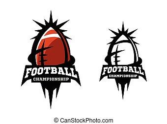 options., amerikanische , zwei, football.