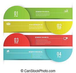 options banner - Vector business concepts with icons / can ...