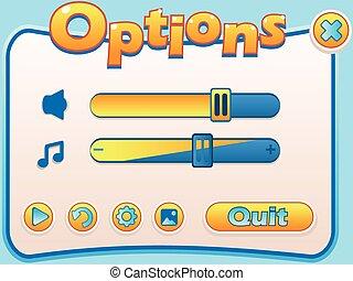 options game panel