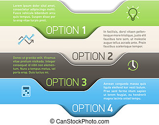 options, infographics