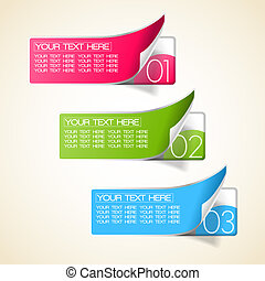 options labels as stickers