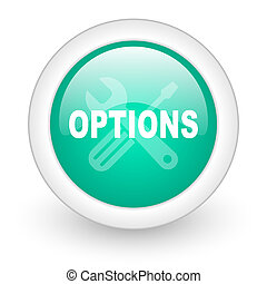 options round glossy web icon on white background
