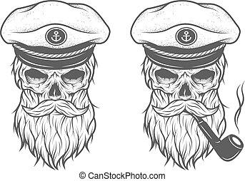 options., skull., kapitány, két