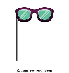 optique, lunettes, crosse