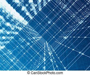 optique, technologie, fibre