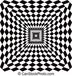 optisch, controleren, perspectief