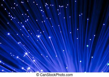 optisch, fasern, blaues