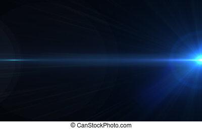 optisch, flakkerende licht