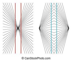 optisch, hering, wundt, illusie