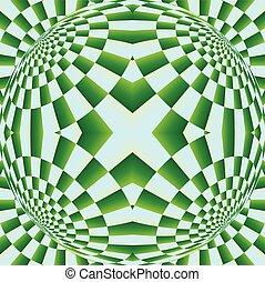 optisch, uitbreiding, illusie