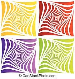 optische illusie, kleurrijke