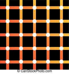 optisk illusion, färgrik