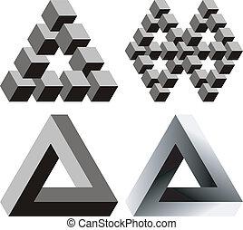 optisk, illusions