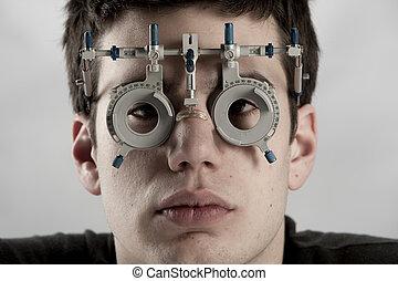 optométriste, examen