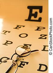 eye test chart - optometrist eye test chart orange
