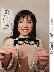 Optometrist eyesight checkup