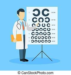 optometrist., isolerat, man