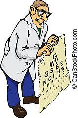 optometrist, läkare