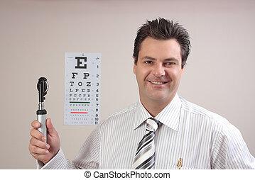 optometrist, ou, doutor