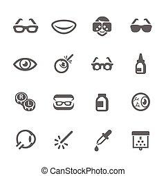 optometry, ícones