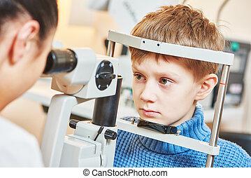 optometry, ∥あるいは∥, 眼科学, 子供