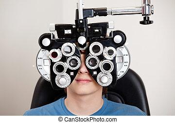 optometry, 試験