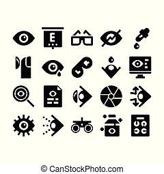 optometry, glyph, ícones