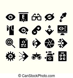optometry glyph icons