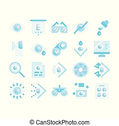 optometry gradient flat icons
