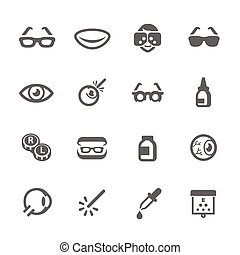 Optometry icons - Simple Set Optometry Related Vector Icons ...
