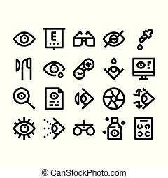 optometry outline icons