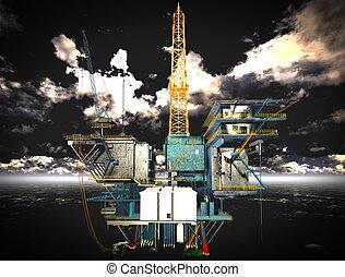 optuigen, olieplatform