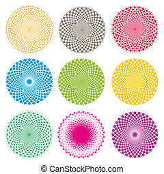 optyczny, illusion-vector, eps