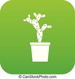 Opuntia icon digital green