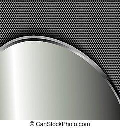opuscolo, astratto, fondo, metallico