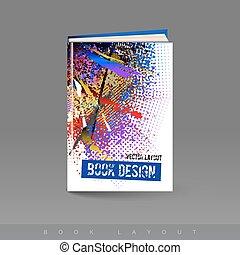 opuscolo, astratto, libro, moderno