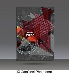 opuscolo, disegno astratto, geometrico, sagoma