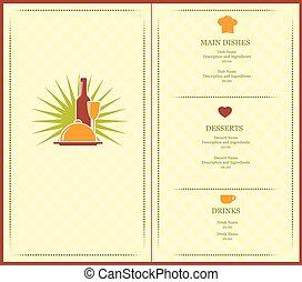 opuscolo, menu