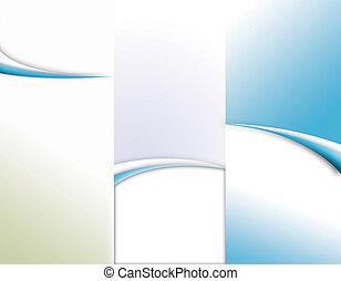 opuscolo, tri-fold, sagoma