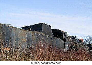 opuszczony, pociąg