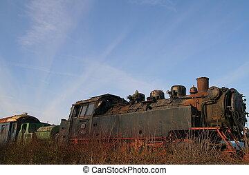opuszczony, pociągi