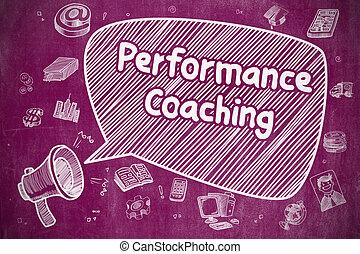 opvoering, coachend, -, concept., zakelijk