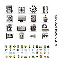 opvoering, computer uitrustingen