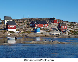 Oqaatsut village, Greenland - Oqaatsut a fisher village in...