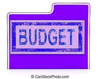 orçamento, arquivo, mostra, economia, negócio, e, gasto