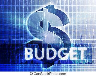 orçamento, ilustração, finanças