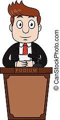 orędownik, podium